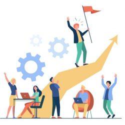 lider-empresarial-pie-flecha-sosteniendo-bandera-ilustracion-vectorial-plana-gente-dibujos-animados-entrenando-haciendo-plan-negocios-concepto-liderazgo-victoria-desafio_74855-9812